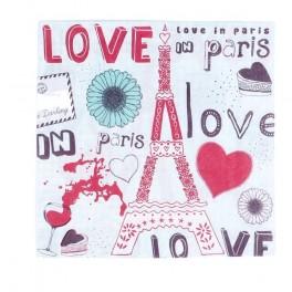 """Tovaglioli di carta """"Love in Paris"""". 20 pezzi"""