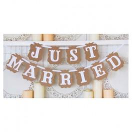 """Bandierine in carta """"Just Married"""""""