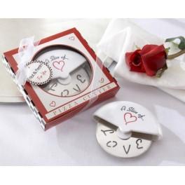 """Grande Rotella tagliapizza """"LOVE"""" in confezione regalo"""